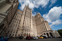 seven sisters building in Moscow, Russia by pixelhut